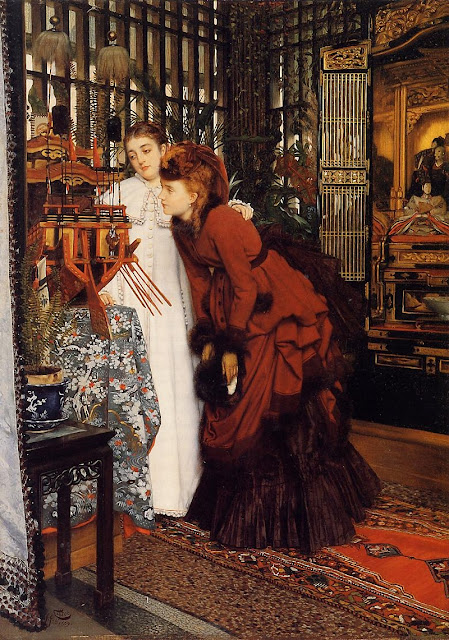 James Tissot - Young Women Looking at Japanese Objects