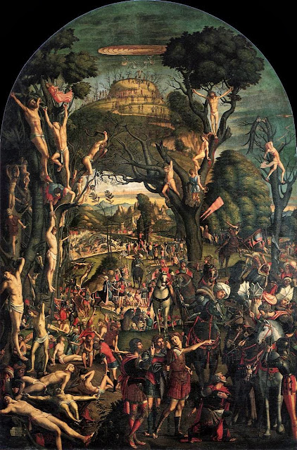 Vittore Carpaccio - Crucifixion and Apotheosis of the Ten Thousand Martyrs