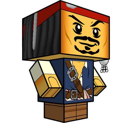 LEGO Jack Sparrow Papercraft