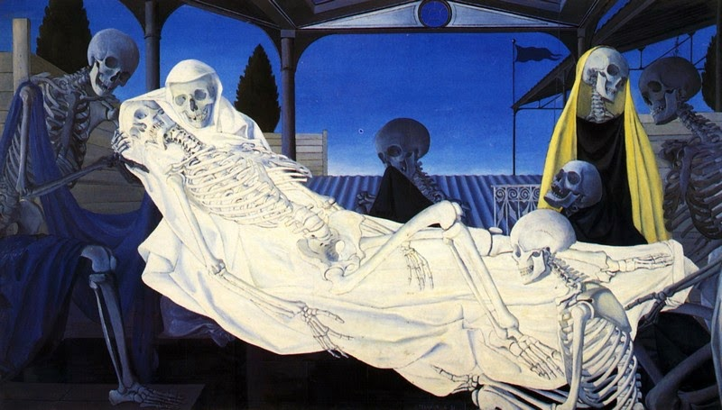 Paul Delvaux - The Deposition, 1951
