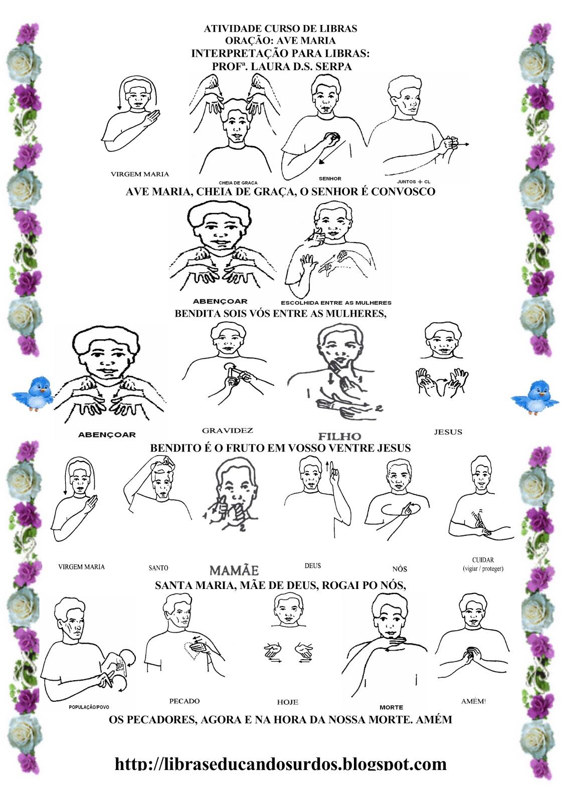 LIBRAS: Educandos Surdos: Ave maria em LIBRAS #466725 1119 1600