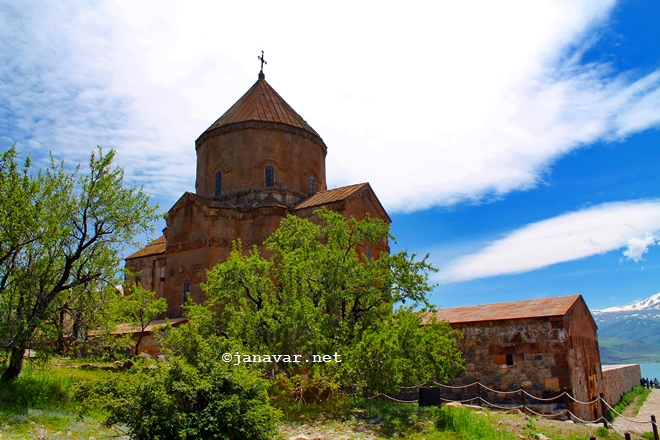 Armenian Holy Cross Cathedral on Akdamar Island, Van, Turkey