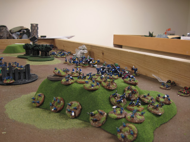 They face Karl's Ork horde.