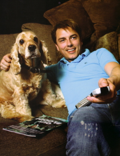 John Barrowman and his spaniel