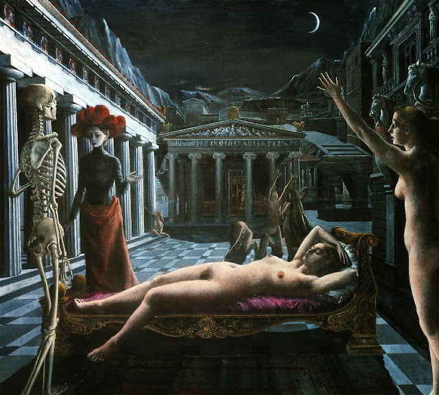 Paul Delvaux - Sleeping Venus, 1944