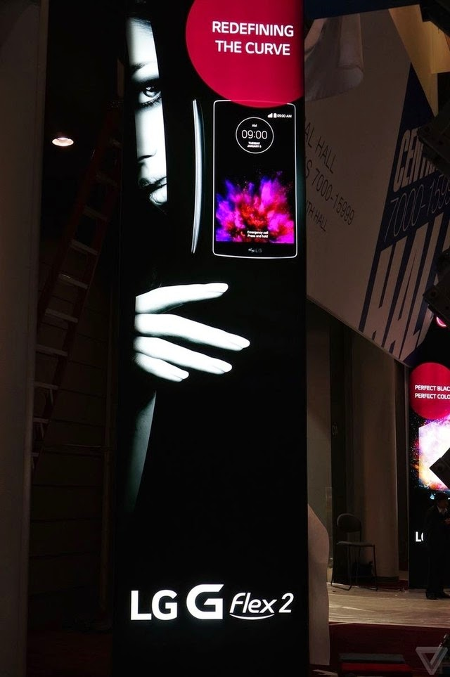 LG G Flex 2 promo material spotted at CES 2015: