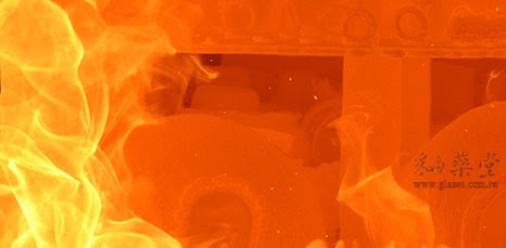 柴燒火焰與坯體