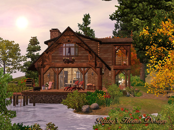 Sims3 Lakeside Cabin 湖邊小木屋- Ruby\'s Home Design