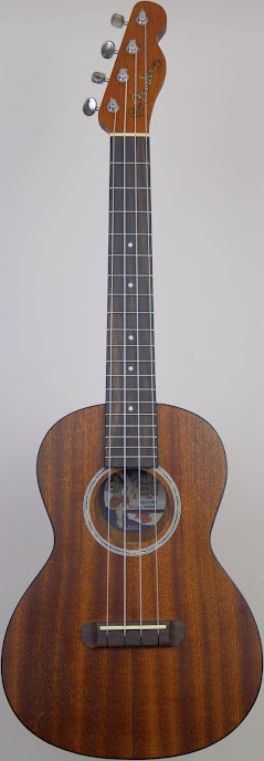 Fender Hai'ola Mahogany Tenor ukulele corner