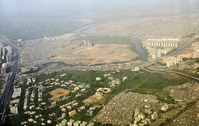 slums aerial view
