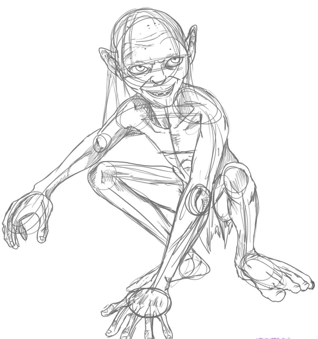 Gollum Lord Of The Rings Coloring Pages