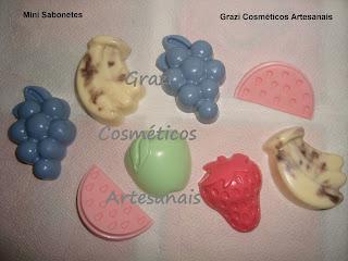 mini sabonetes barra grazi cosmeticos artesanais