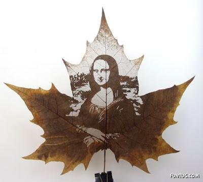 انقش صــورة تحــب الشجــر.. غاية الروعة leaf_painting_art_01