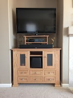 45″ x 27″ x 36″ Hagen Entertainment Center in Natural Oak