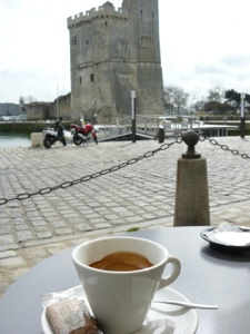 French village diaries coffee La Rochelle