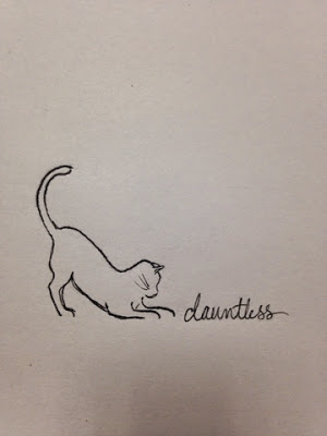 97 Hearts dauntless cat drawing