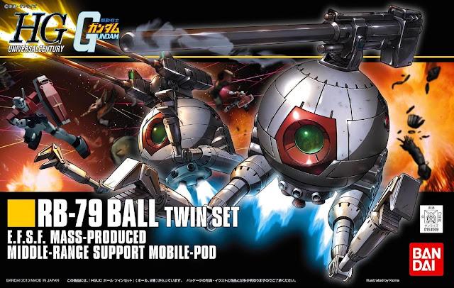 Đồ chơi Lắp ghép gundam RB-79 Ball Twin Set HGUC tỷ lệ 1/144 dành cho trẻ trên 8 tuổi