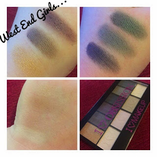 Makeup Revolution: I ♡ Makeup -  West End Girls  - Swatches