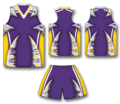Camouflage Fastpitch Softball Uniform