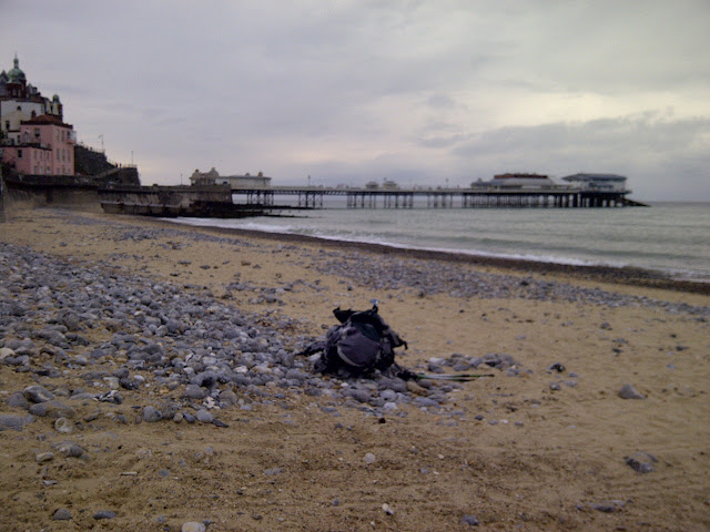My rucksack on Cromer beach