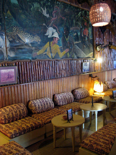 Interior of the Hotel de la Poste in Saint Louis Senegal