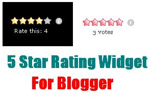 5 Star Rating Rating Widget For Blogger