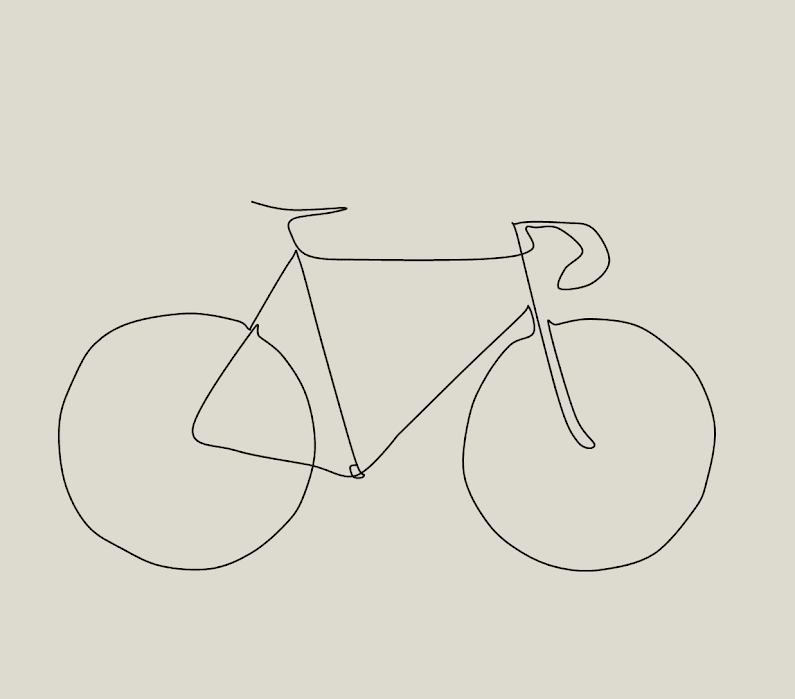 Simple Line Art Illustration : Picasso inspired bike drawing the paceline forum