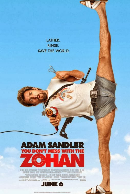 Poster Of You Don't Mess with the Zohan (2008) Full Movie Hindi Dubbed Free Download Watch Online At Alldownloads4u.Com