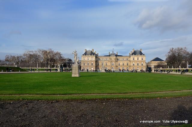 Люксембургский дворец в Париже и сад