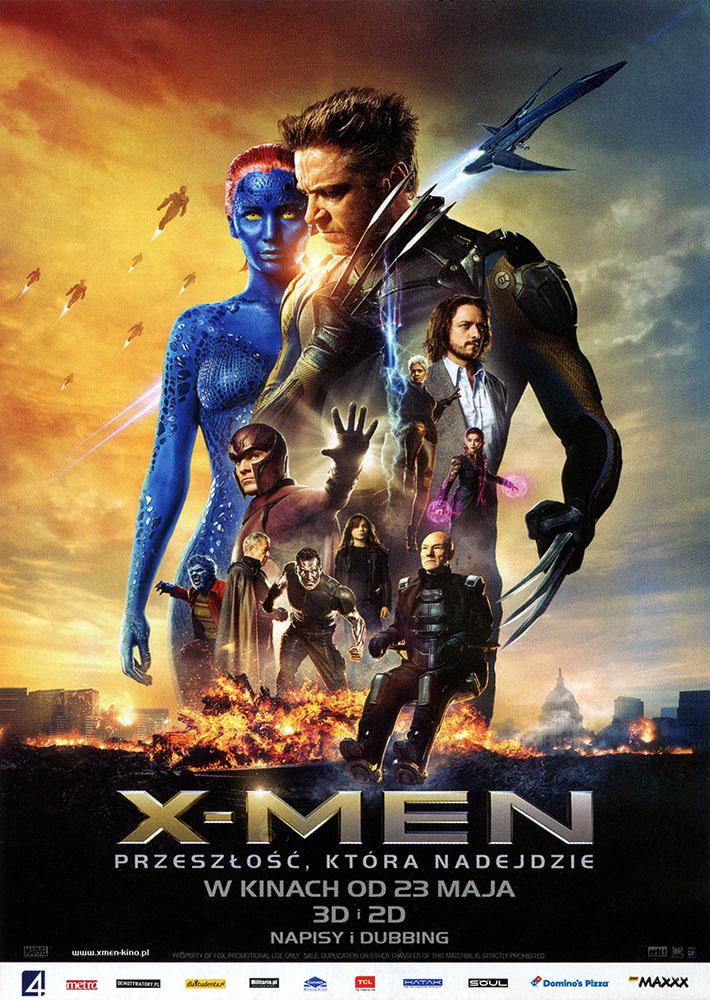 Ulotka filmu 'X-Men: Przeszłość, Która Nadejdzie (przód)'