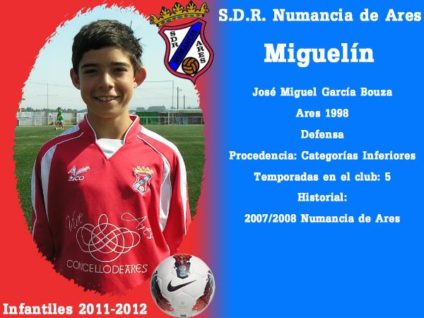 ADR Numancia de Ares. Infantís 2011-2012. MIGUELIN.