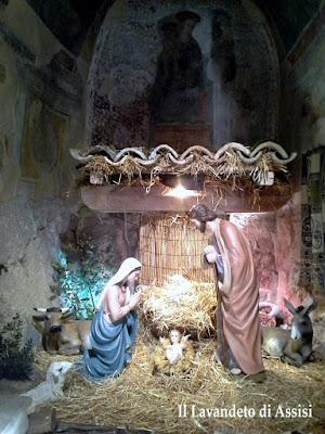 Natale ad Assisi presepe da visitare