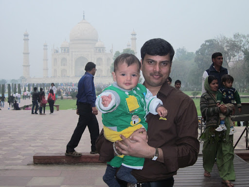 Atharv with his papa..
