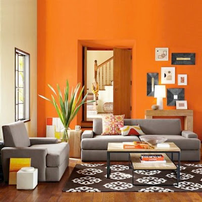 01 orange interior design Tren Warna 2012: Oranye