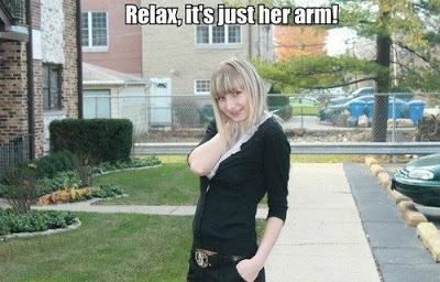Relax, it's just her arm!