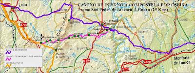 Líncora-A Gouxa (con mapa)