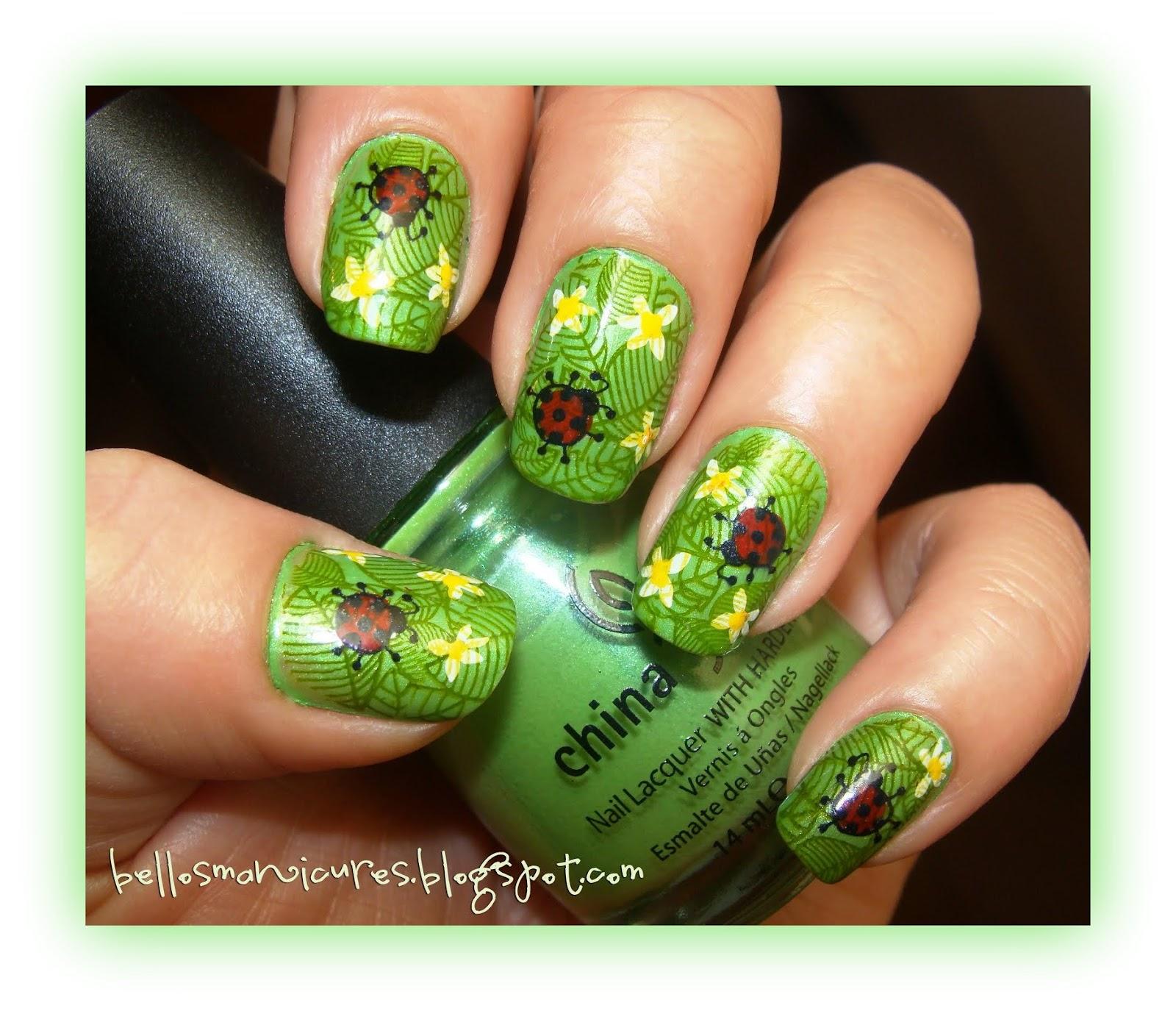 Manicure en color verde manzana!!   BELLEZA EN TUS MANOS