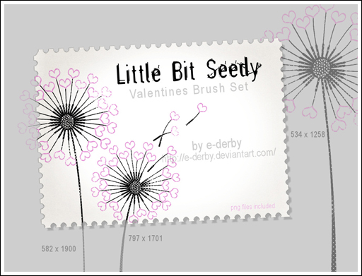 Little Bit Seedy Brush Set by E-Derby