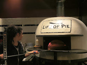 The pride of Life of Pie and the source of amazing pizzas is a 6,900 pound wood fired pizza oven, hand-made by the legendary Stefano Ferrara in Napoli, Italy