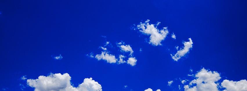 Bulutlar ve gökyüzü facebook kapak fotoğrafı