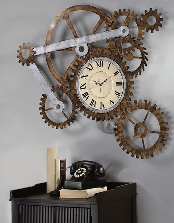 Reloj decoración steampunk