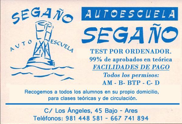 Autoescuela Segaño, colaborador con la A.D.R. Numancia de Ares.