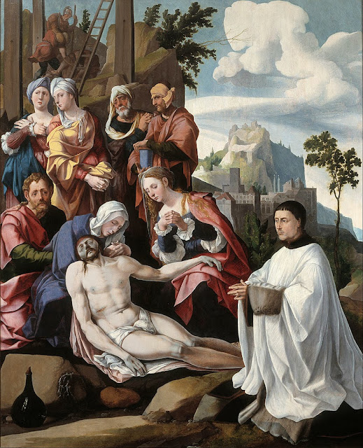 Jan van Scorel - Lamentation of Christ with a Donor - Google Art Project.
