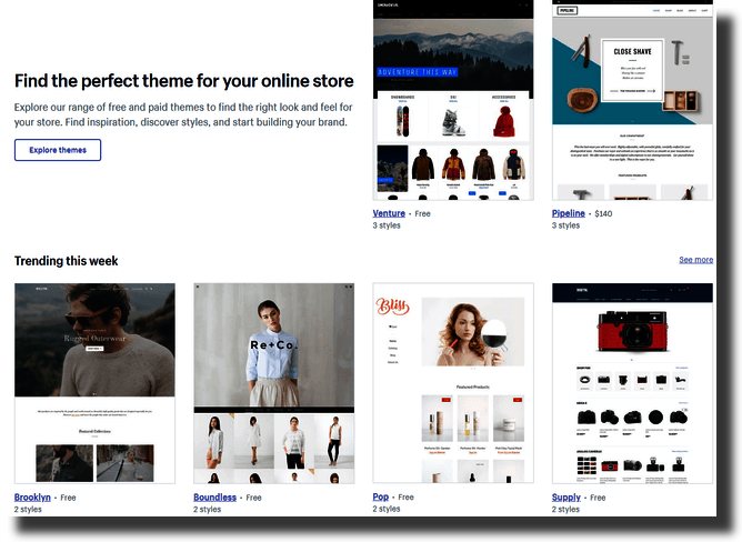 Find the perfect theme for your online store