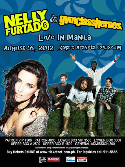 Nelly Furtado & Gym Class Heroes LIVE in Manila Ticket Prices