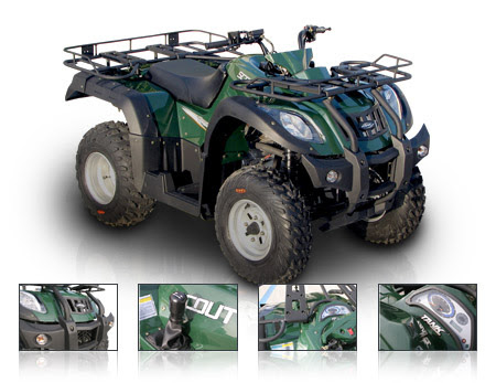 250cc Jianshe Yamaha Shaft Drive Semi Auto Farm Ag Scout Quad Bike ATV