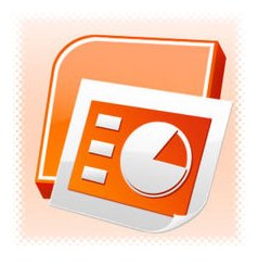 PowerPoint slides download icon