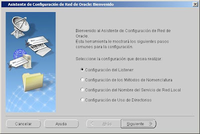 Crear listener en Oracle 10g y Windows Server 2008 R2