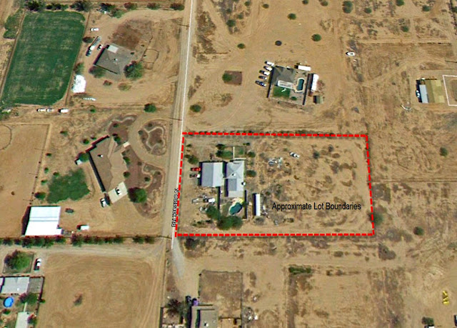 property boundaries for horse property in San Tan Valley sitting on 2 acres