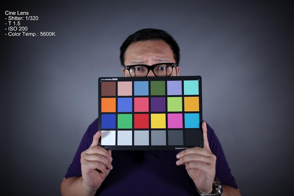 Cine lens Color test